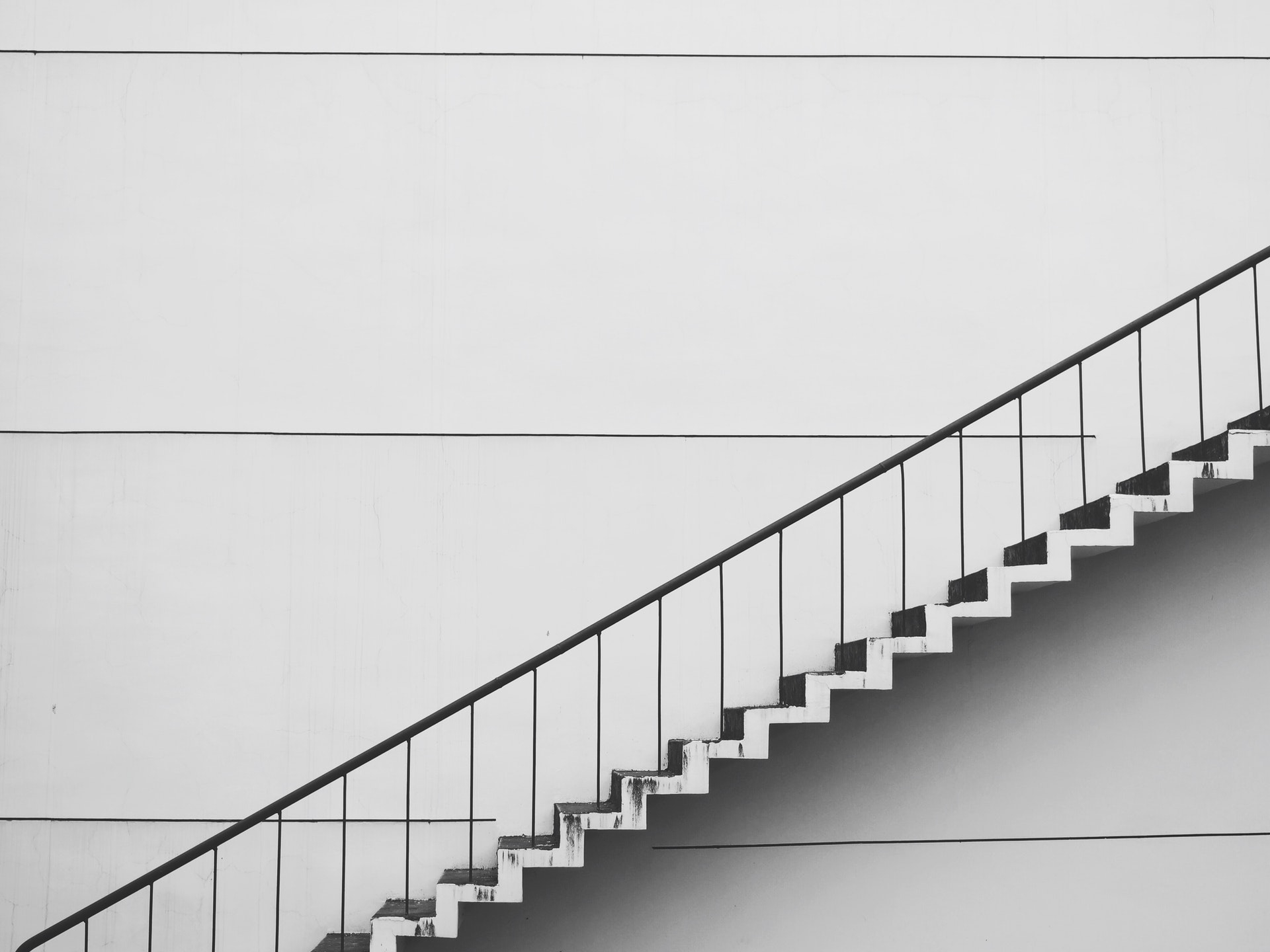 White and Black staircase, next step in your career