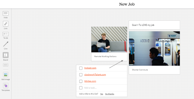 Milanote - job seeking hack
