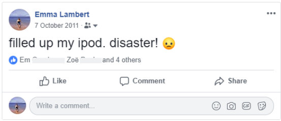 social media clean up - facebook post