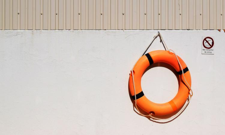 orange rubber ring life saver